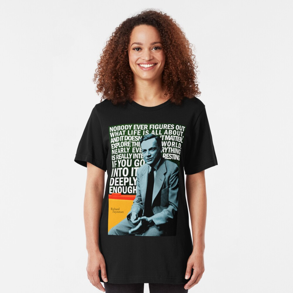Richard Feynman Slim Fit T-Shirt