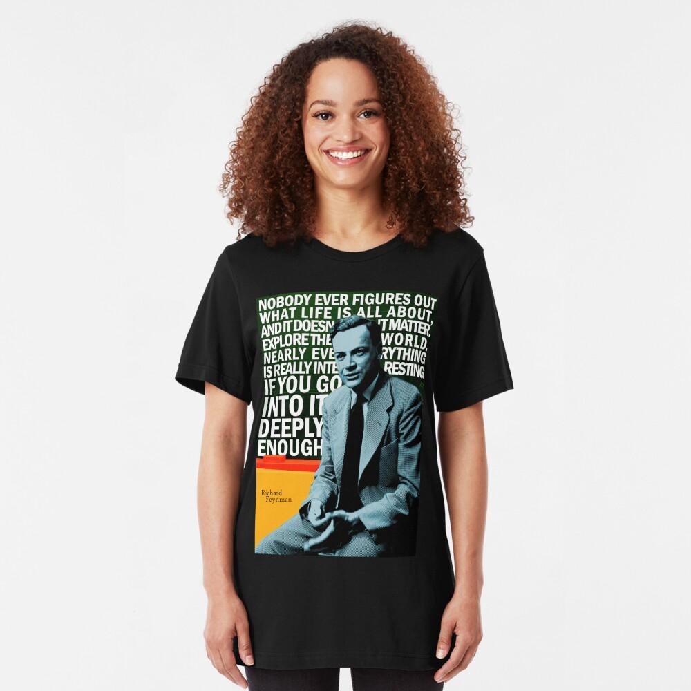 Richard Feynman Slim Fit T-Shirt