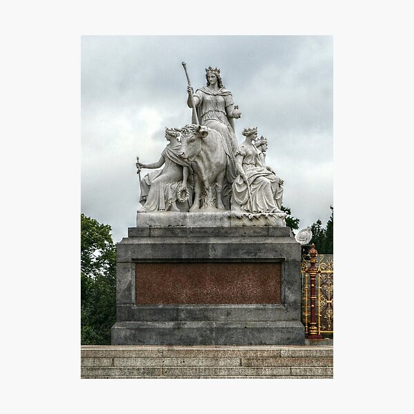 Statue to the Left of the Albert Memorial Photographic Print