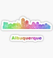 Rainbow Albuquerque skyline Sticker