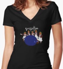 Big Blueberry Fitted V-Neck T-Shirt