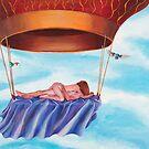Balloon Fantasy, original acrylic on canvas by amina  re