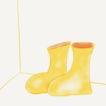 Yellow Rain Boots by Artbymilissa