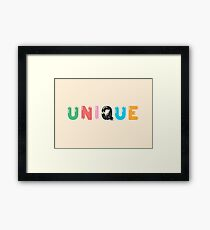 Unique Framed Print