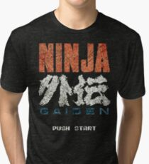 Ninja Gaiden Vintage Emblem Tri-blend T-Shirt