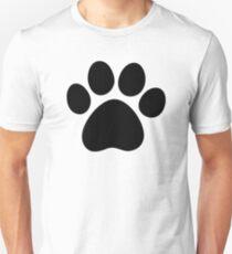 Black Dog Paw Unisex T-Shirt