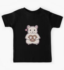 I love you more than this hamster loves pretzels Kids Clothes