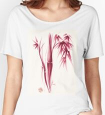 Inspiration - Sumie ink brush zen bamboo painting Women's Relaxed Fit T-Shirt