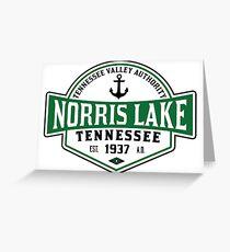 NORRIS LAKE TENNESSEE ANCHOR TN  NAUTICAL BOAT BOATING TVA Greeting Card