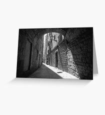 Barrio Gotico Alley Greeting Card