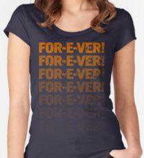 INFINITELY FOR-E-VER  Women's Fitted Scoop T-Shirt