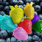 Strawberries and Blueberries by storecee