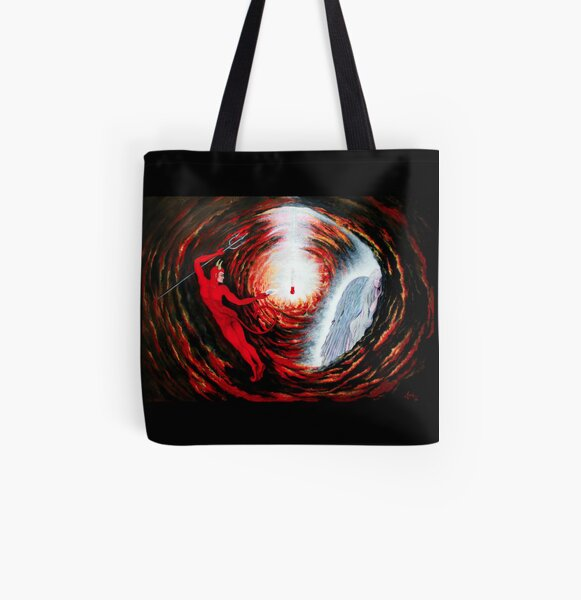Fallen Angels All Over Print Tote Bag