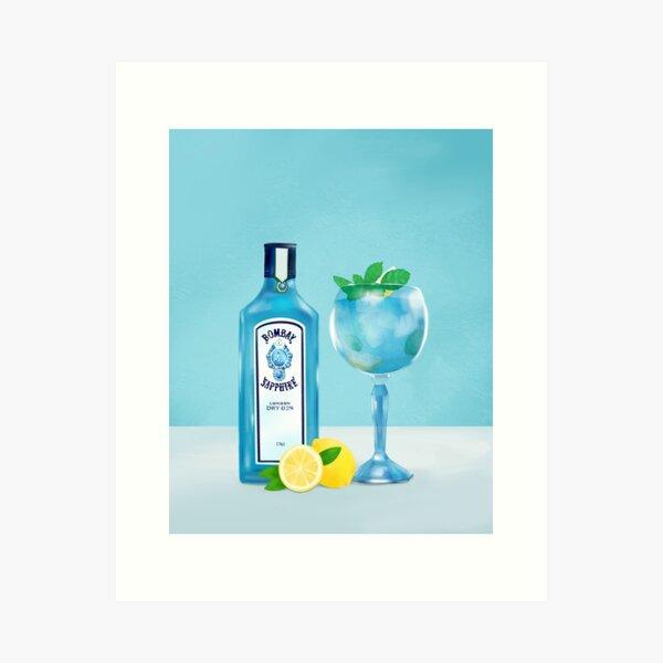 Gin Tonic Cocktail Art Print