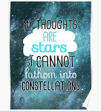 My Thoughts Are Stars Poster