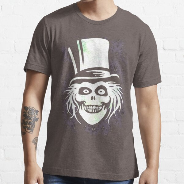 HATBOX GHOST WITH GRUNGY HAUNTED MANSION WALLPAPER Essential T-Shirt