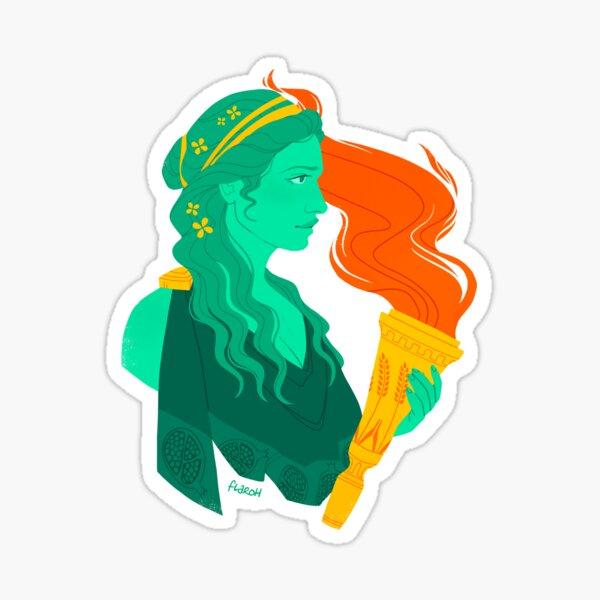 Proserpina/Persephone Bust Sticker