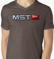 MST3K - Mass Effect Mens V-Neck T-Shirt
