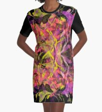 Butterfly Garden Graphic T-Shirt Dress