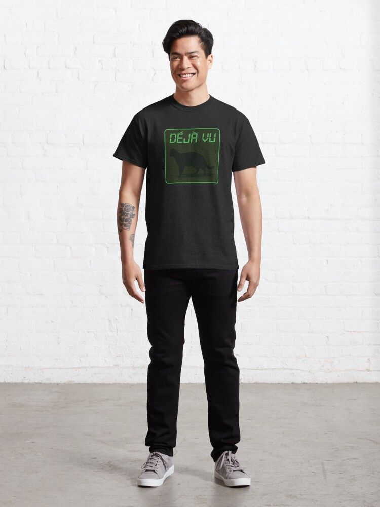 Alternate view of Déjà Vu Matrix Cat Classic T-Shirt