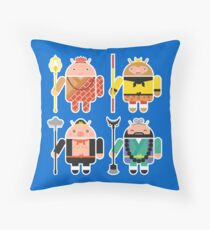 Droid Journey to the West Throw Pillow