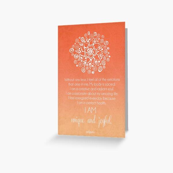 Sacral Chakra Affirmation Greeting Card