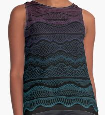Guilloche Wave Sleeveless Top