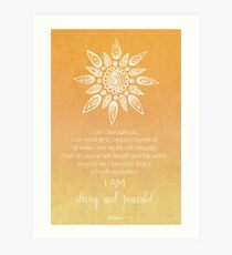 Solar Plexus Chakra Affirmation Art Print