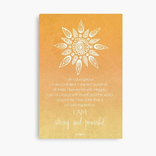 Solar Plexus Chakra Affirmation Canvas Print