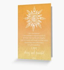 Solar Plexus Chakra Affirmation Greeting Card
