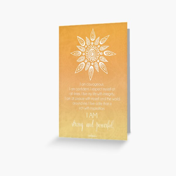 Solar Plexus Chakra Affirmation Greeting Card