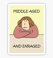 Middle age rage. Sticker