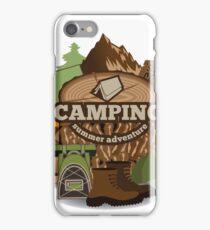 Camping insignia iPhone Case/Skin