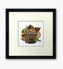 Camping insignia Framed Print