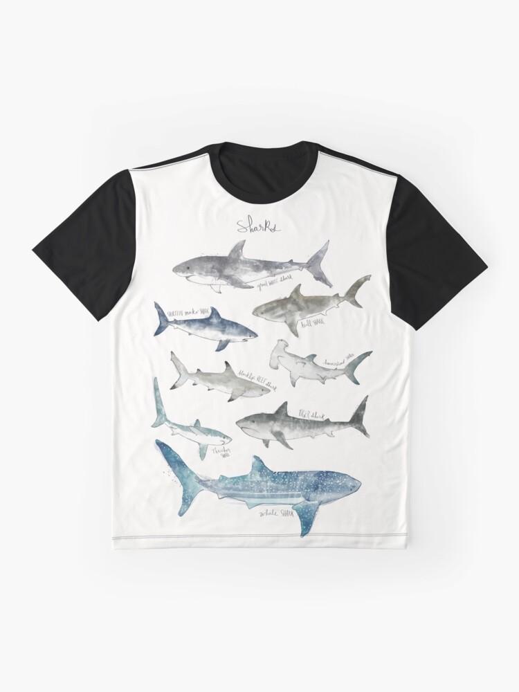 Alternate view of Sharks - Landscape Format Graphic T-Shirt