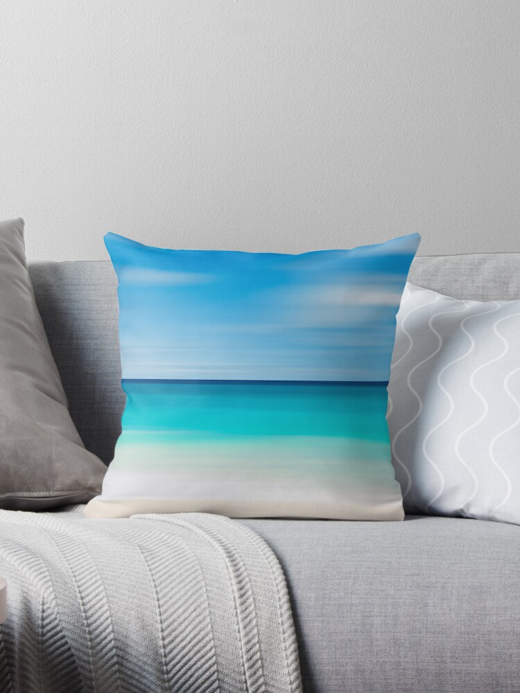 Quot Coastal Decor Throw Pillow Beach Cottage Living Room Teal