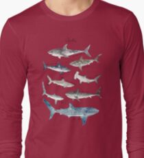 Sharks - Landscape Format Long Sleeve T-Shirt