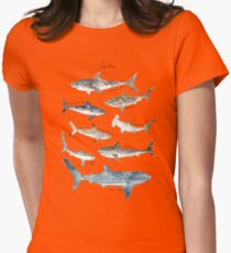 Sharks - Landscape Format Womens Fitted T-Shirt
