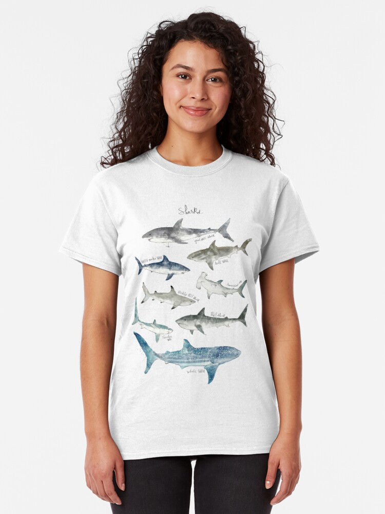 Alternate view of Sharks - Landscape Format Classic T-Shirt