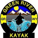 KAYAK GREEN RIVER WYOMING KAYAKING WHITEWATER CANOE CANOEING by MyHandmadeSigns