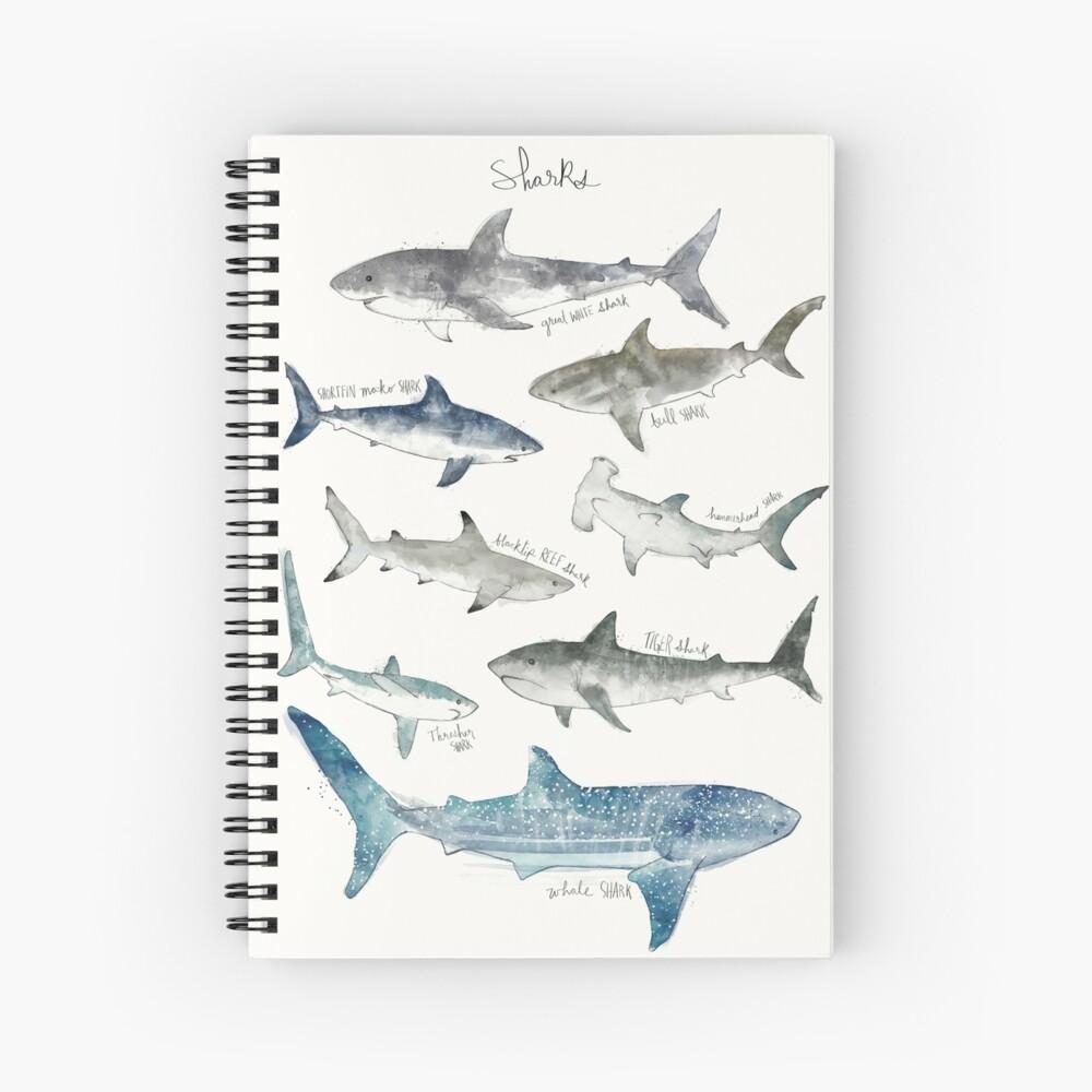 Sharks - Landscape Format Spiral Notebook