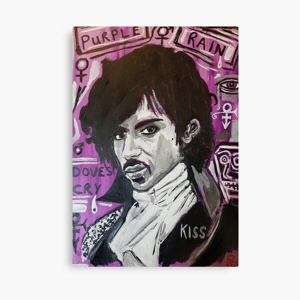 Prince en violet Ra8n Impression sur toile