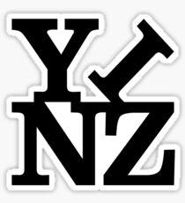 Yinz Black Lettering Sticker