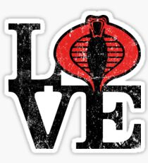 LOVE COBRA Sticker