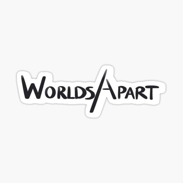Worlds Apart logo - full Sticker
