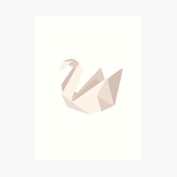Prison Break - Origami Swan Art Print
