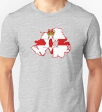 Ulster Banner Map of Northern Ireland, 1953-1972  Unisex T-Shirt