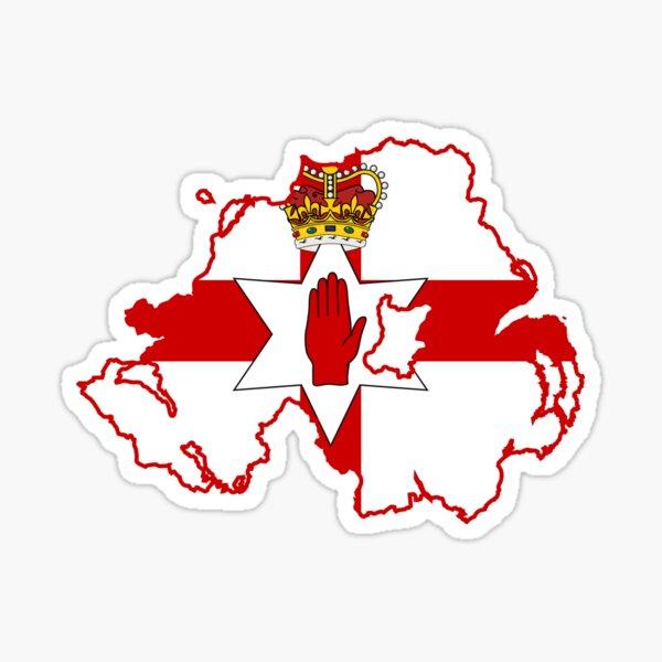 Ulster Banner Map of Northern Ireland, 1953-1972  Sticker