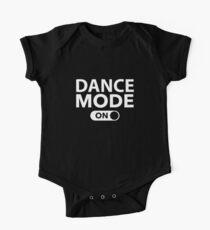 Body de manga corta para bebé Modo de baile en