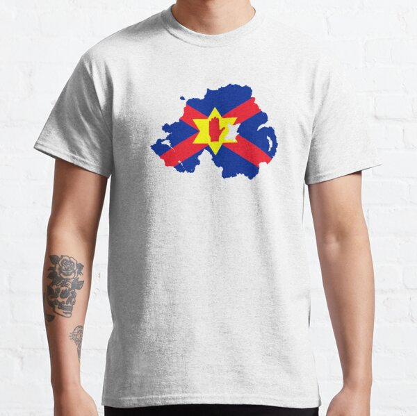 Ulster Nation Flag Map of Northern Ireland Classic T-Shirt